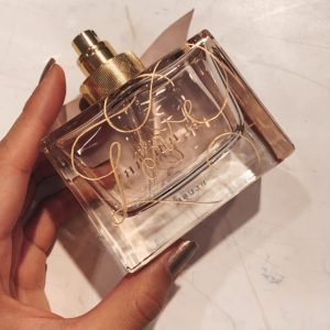 perfume hand engraved thoughtful gift by Rosie Chhun Calligrapher and Engraver