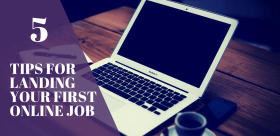 landing your first online job
