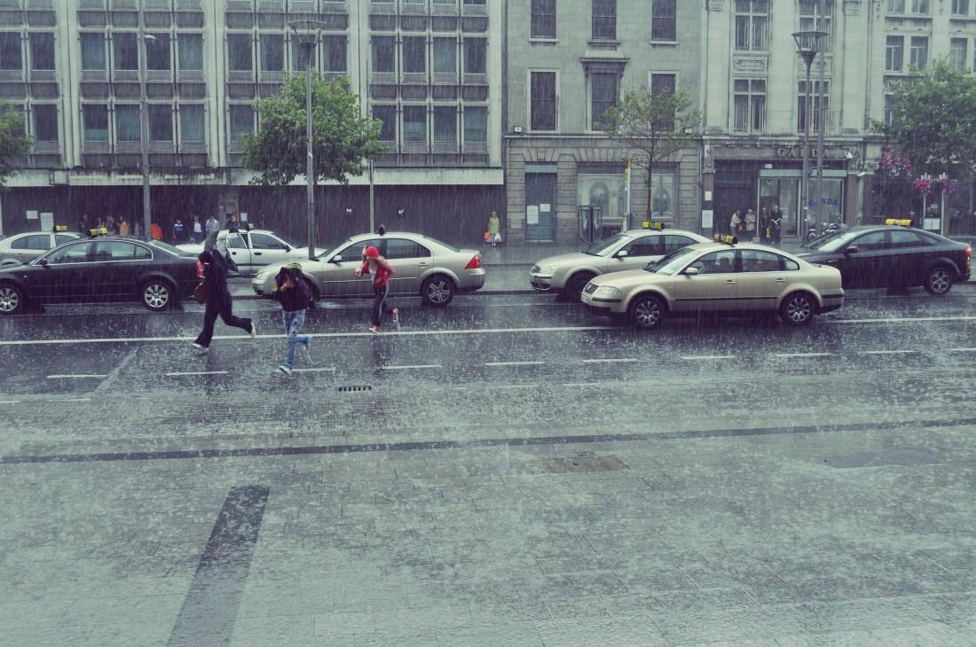 Rain in Ireland in the Winter