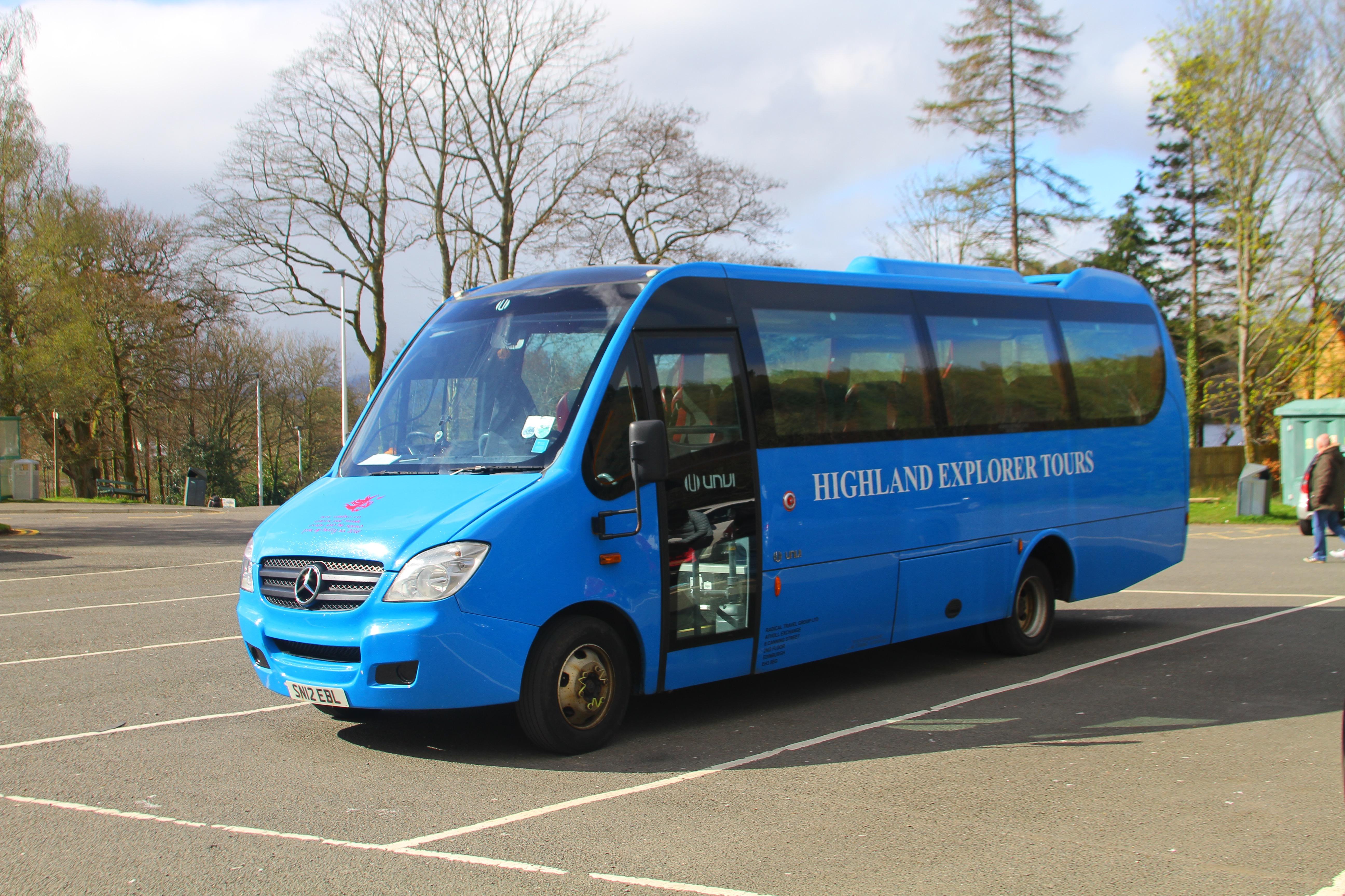 Tour bus for Haggis Adventures