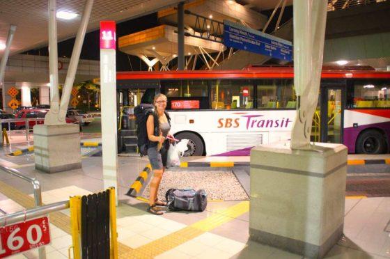 Unser Reisebus startet direkt hinter der Grenze zu Malaysia