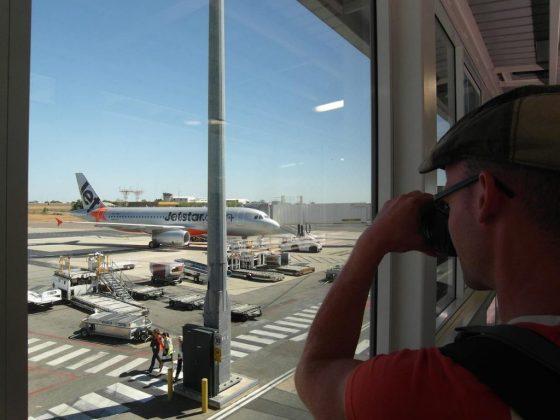 Abflug ab Darwin, NT. Wir fliegen mit JetStar