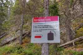 Warnungen, dass Bomben von der Lawinenkontrolle herumliegen könnten