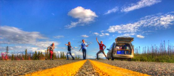 Wir sind endlich auf dem Top Of The World Highway. Yeah!