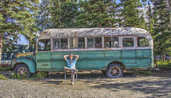 "Die Replica zum Bus aus ""Into The Wild"" am Stempede Trail"