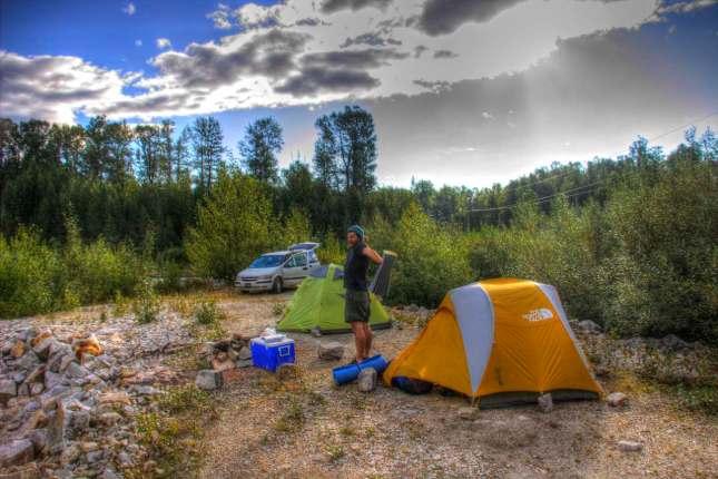 Wir campen grundsätzlich mit zwei 2er Zelten
