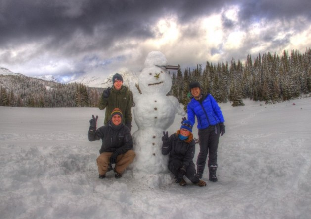 Der erste Schneemann der Saison