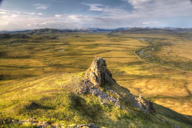Die wunderschöne Landschaft im Tombstone Territorial Park