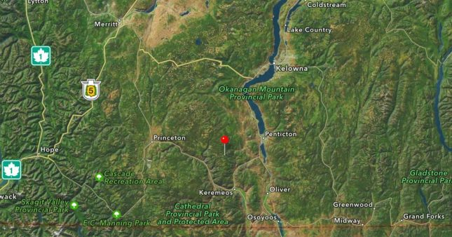 Landkarte um Apex Mountain Resort