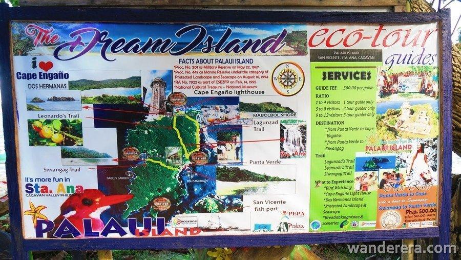Palaui Island Map