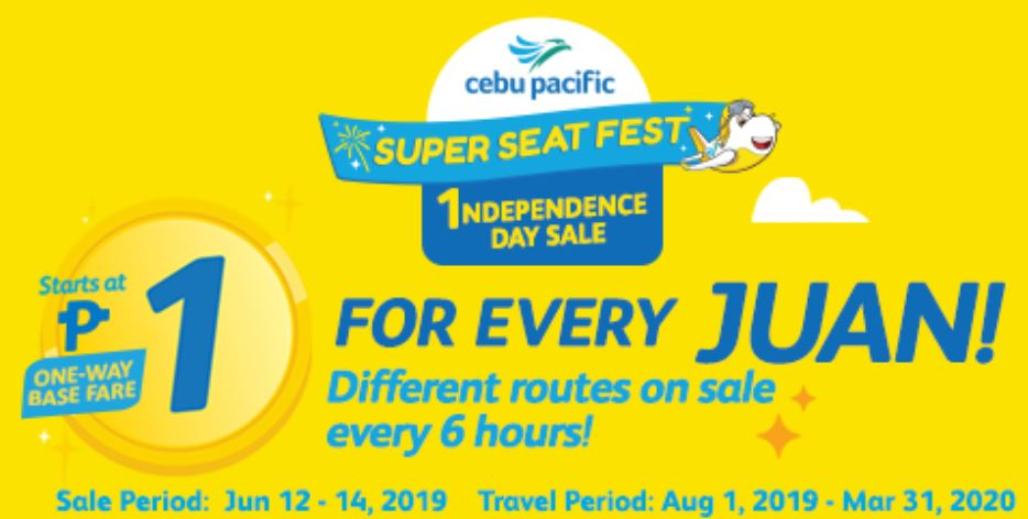 Cebu Pacific Piso Fare Independence Day Sale! HOW TO BOOK