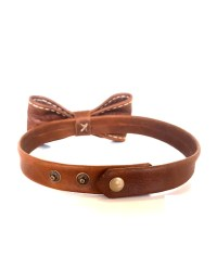 Handmade Leather Bow tie by Wanderer Handcrafted Leather