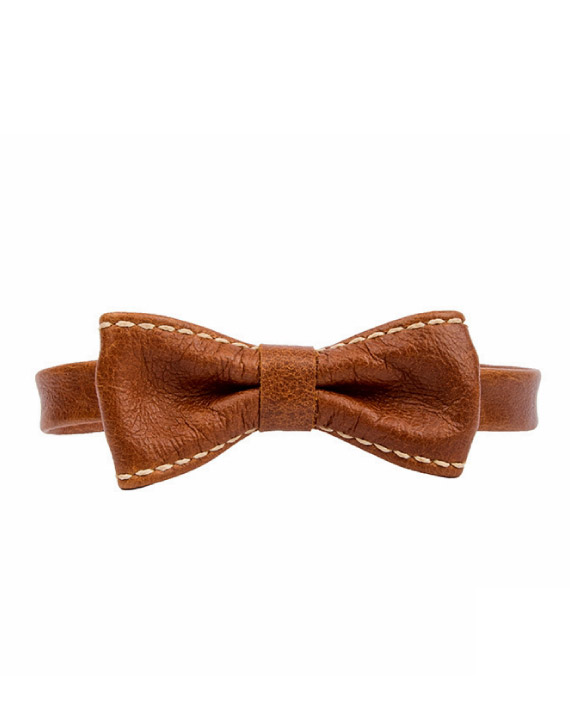 Handmade Leather Bowtie by Wanderer Handcrafted Leather