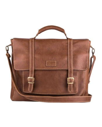 Grayson Leather laptopbag by Wanderer Handcrafted Leather
