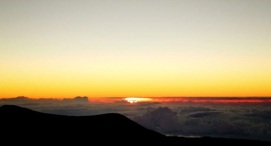 Sunset on top of Mauna Kea, Hawaii