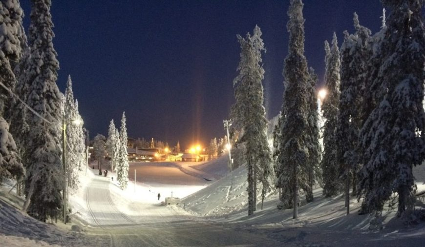 Snow in Ruka, Finland