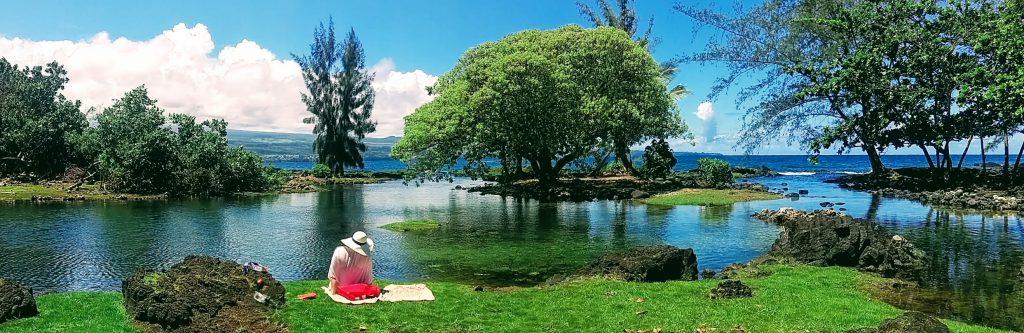 Keaukaha Beach Park on The Big Island