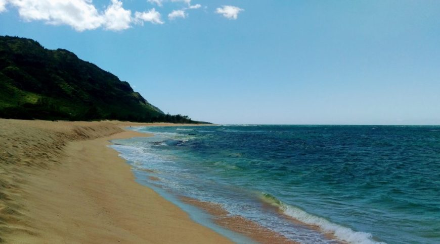 Sandy beach, Hawaii