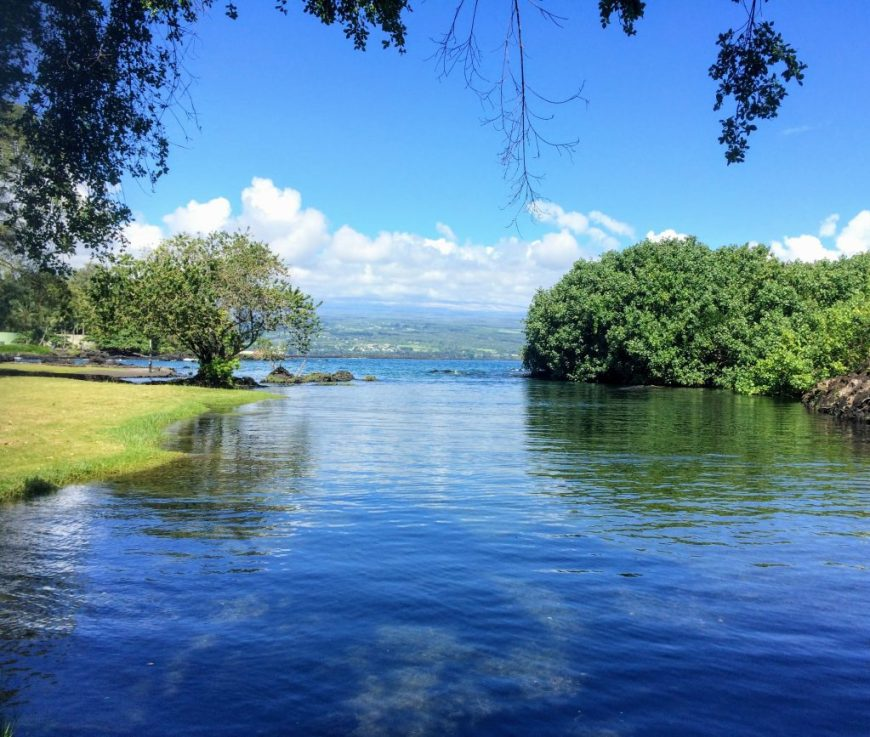 Beach park, Hilo, Hawaii