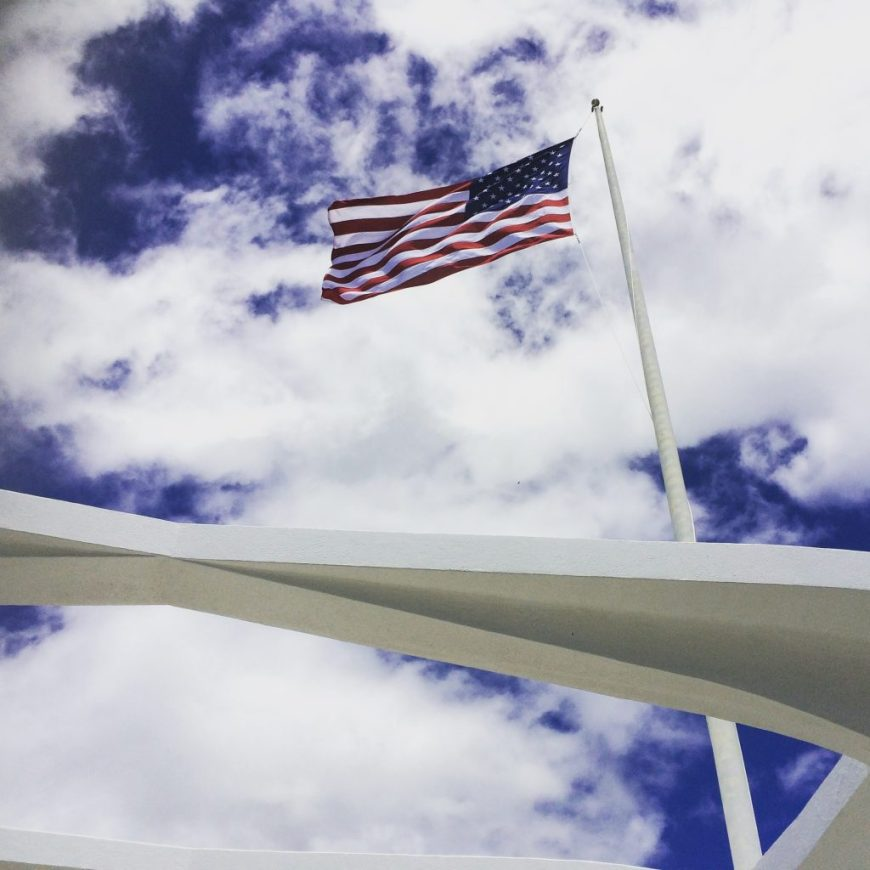 USA flag at Pearl Harbor