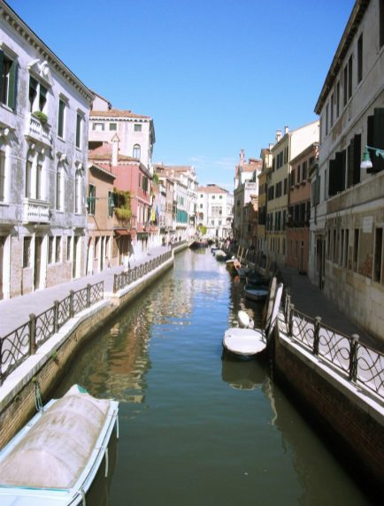 The pretty canals of Venice in summer