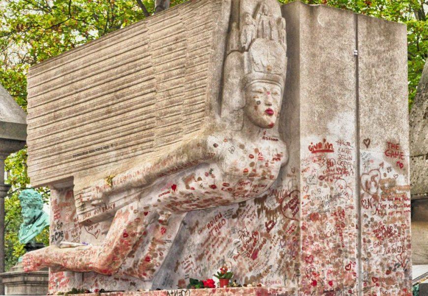 Oscar Wilde's Grave, Pere du Lachaise Cemetiere, Paris