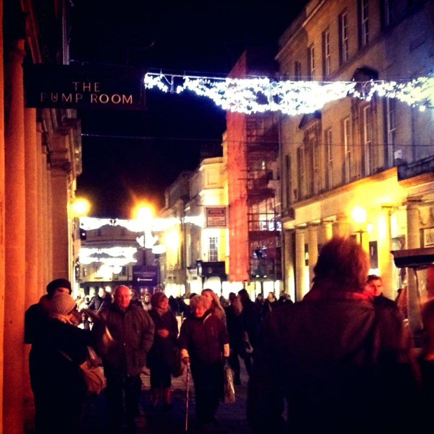 Christmas Shoppers in Bath
