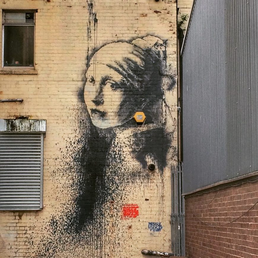 Fall in Love with Bristol: Girl with the Pearl Earring Street Art