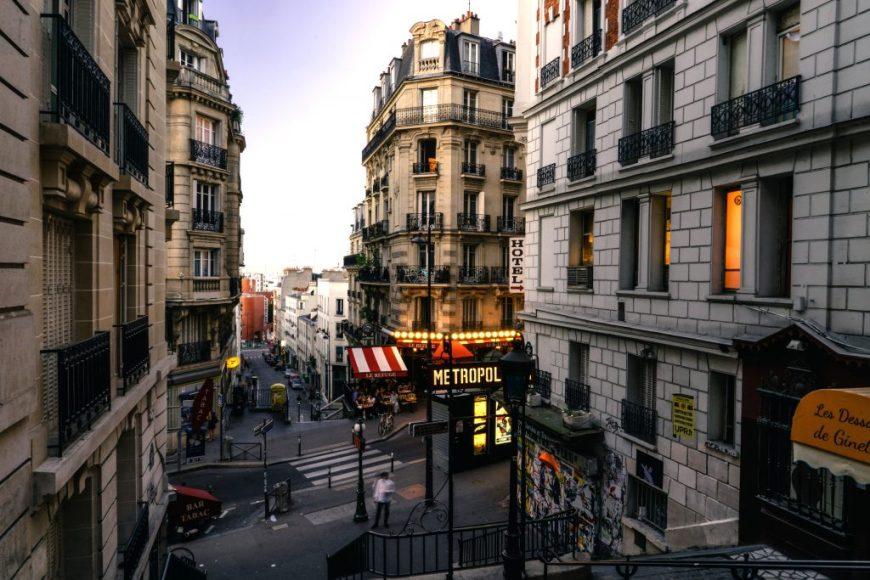 Paris Metro Street