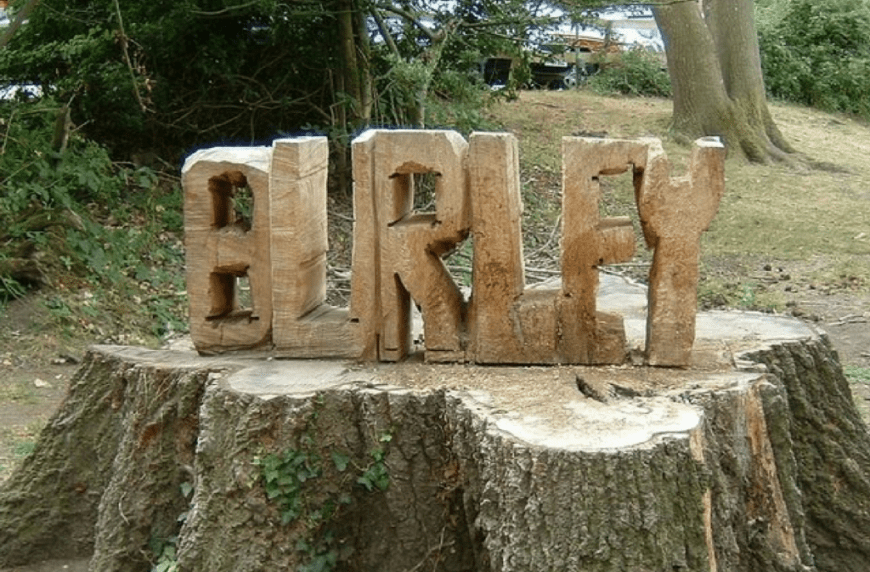 Burley Village Wood Carving