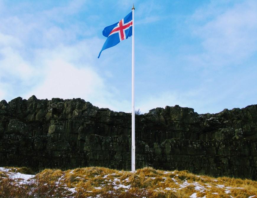 Iceland Flag - Thingvellir National Park
