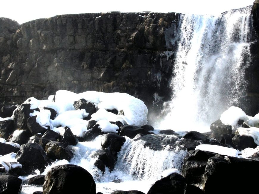 Öxarárfoss Waterfall