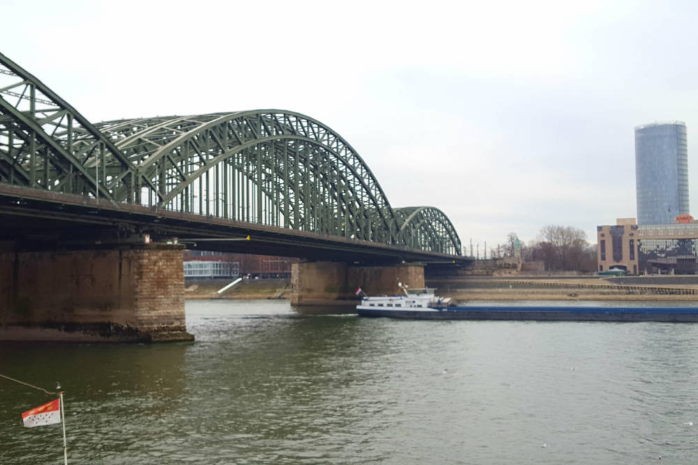Cologne - Rhein Bridge and Koln Triangle