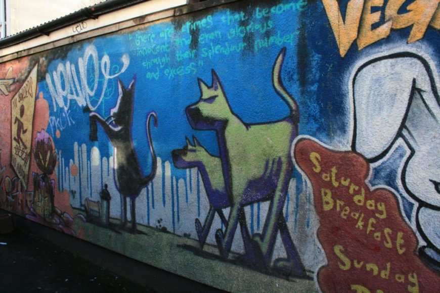 Graffiti Cat and Dog
