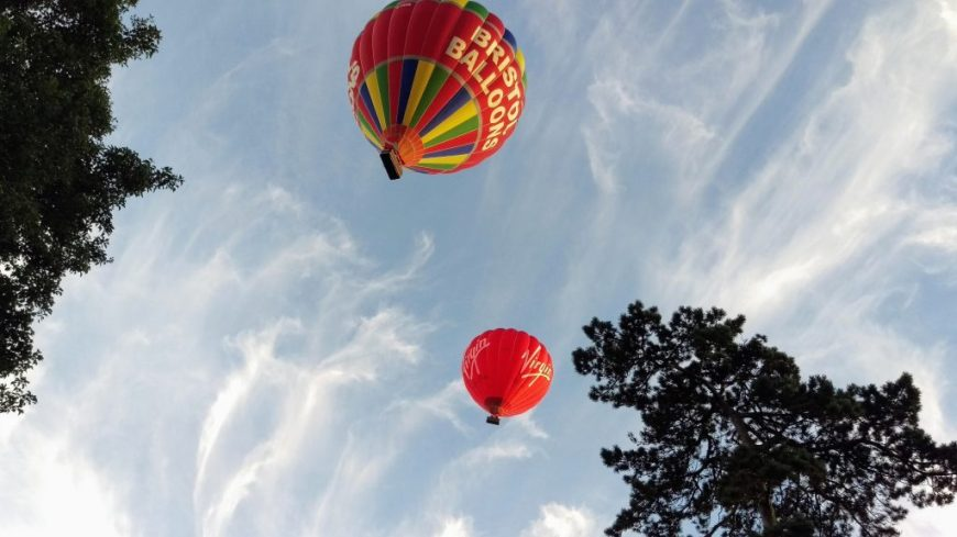 Hot air balloon ride over Bristol
