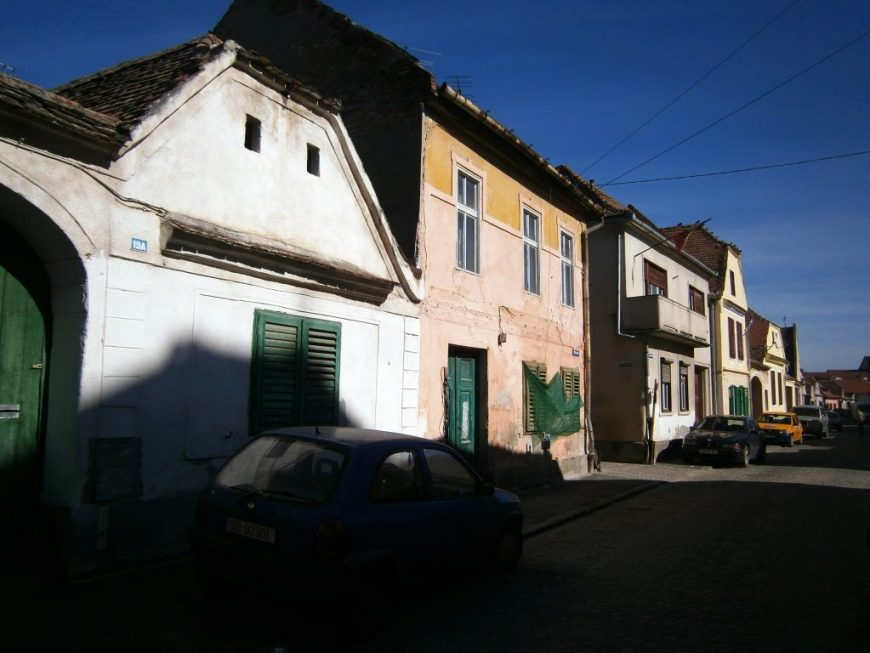 Housing in the Lower Town of Sibiu
