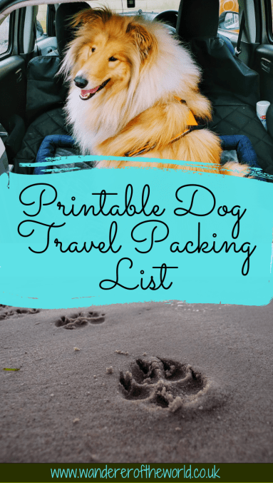 Pet Travel Essentials & Printable Dog Travel Packing List