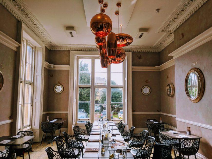 Dining Room at Cotswold Grange Hotel, Cheltenham