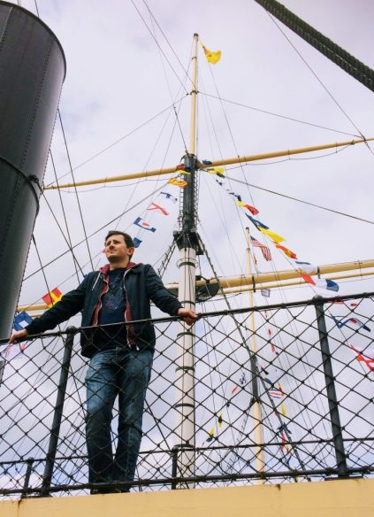 Scott at the SS Great Britain