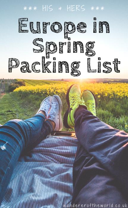 His & Hers Packing List for Europe in Spring