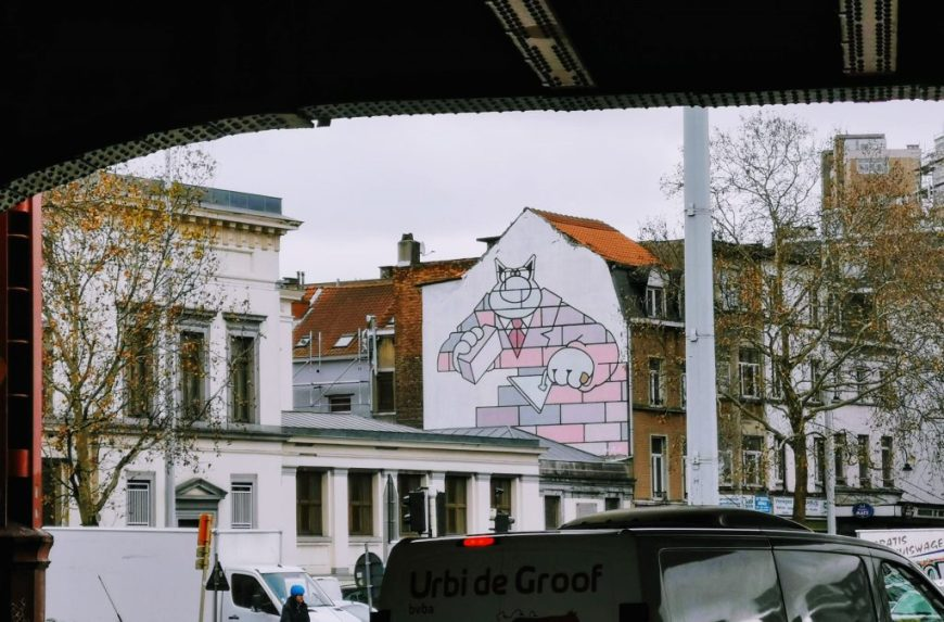 Brussels Comic Strip Mural: Le Chat