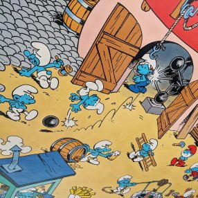Brussels Comic Strip Mural: Smurfs
