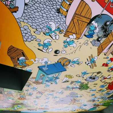 Brussels Comic Strip Murals: Smurfs