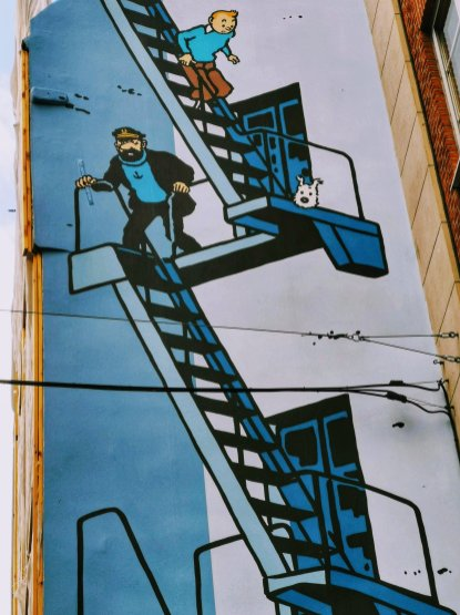 Brussels Comic Strip Mural: Tintin