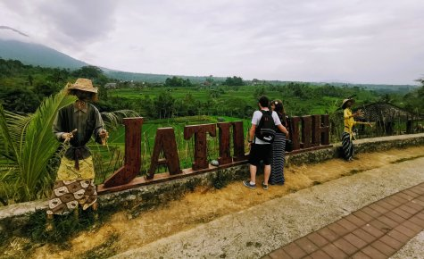 Justine and Scott at Jatiluwah Rice Terrace in Bali
