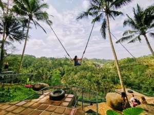 Justine on the Bali swing