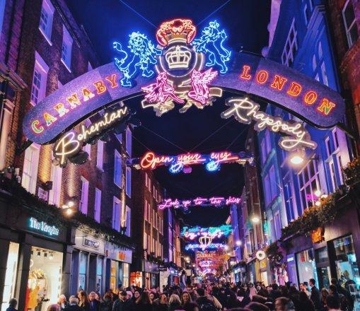 Carnaby Street London at Christmas