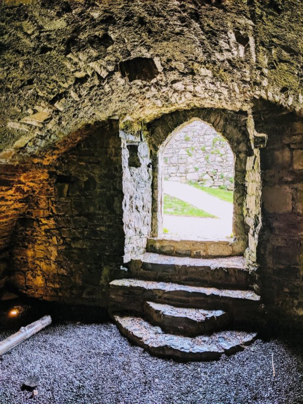 Inside Oystermouth Castle