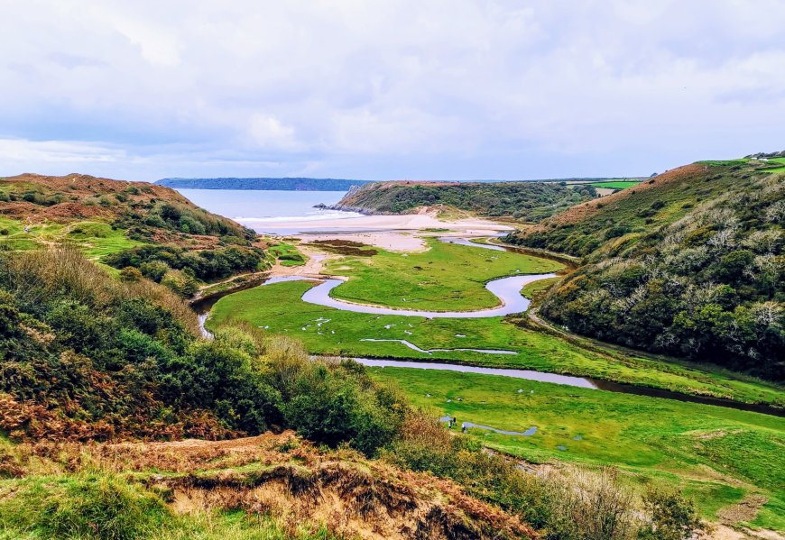 Views from Pennard Castle, Gower Peninsula, Wales