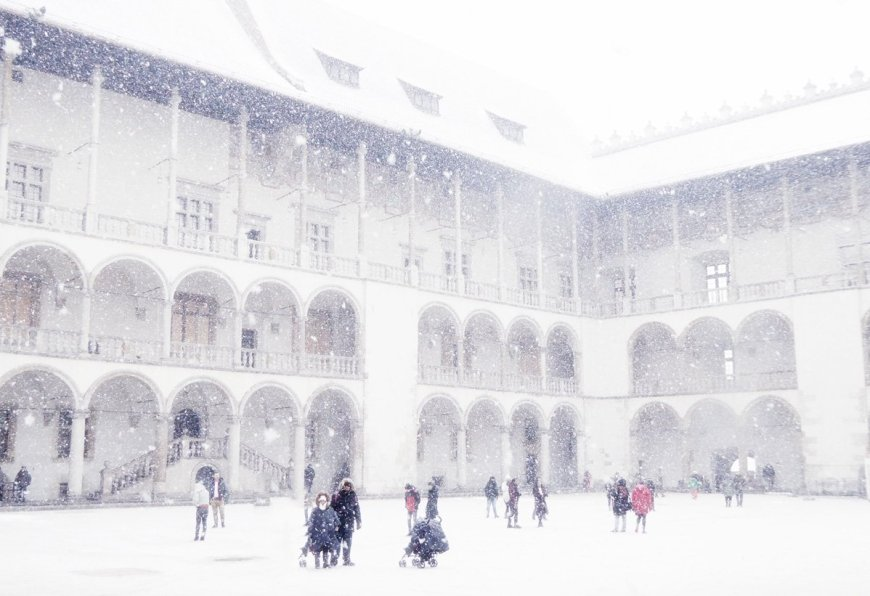 Krakow transformed by snow